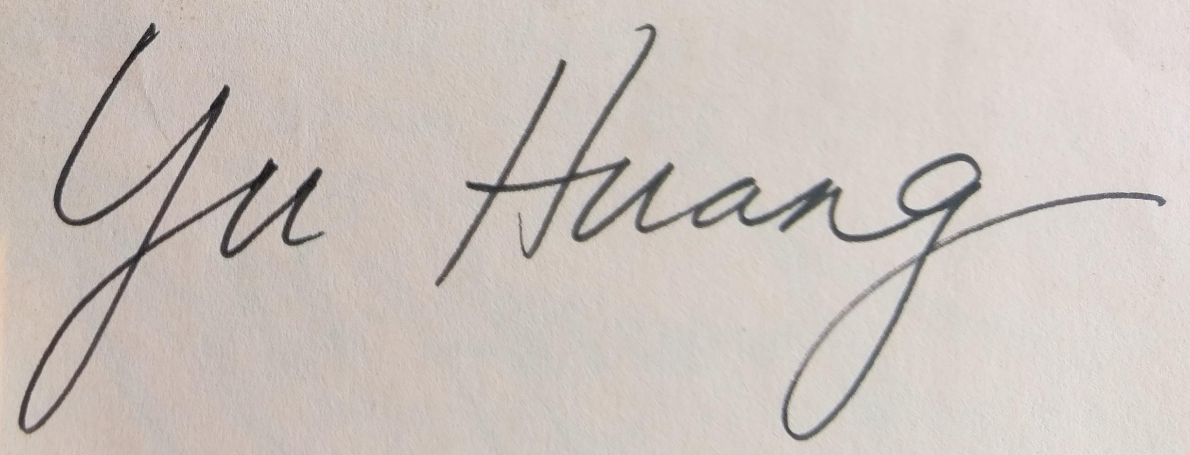 Yu Huang's Signature