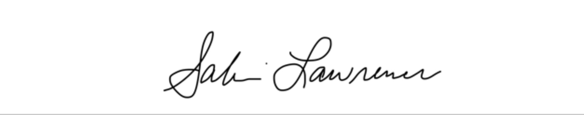 Sabrina Lawrence's Signature