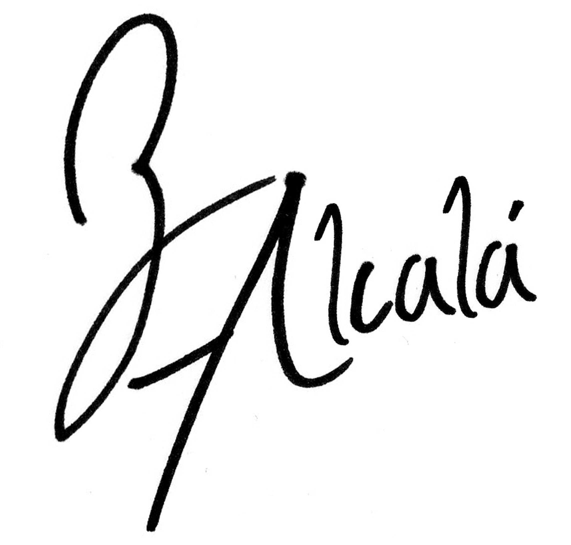 francisco Alcalá's Signature