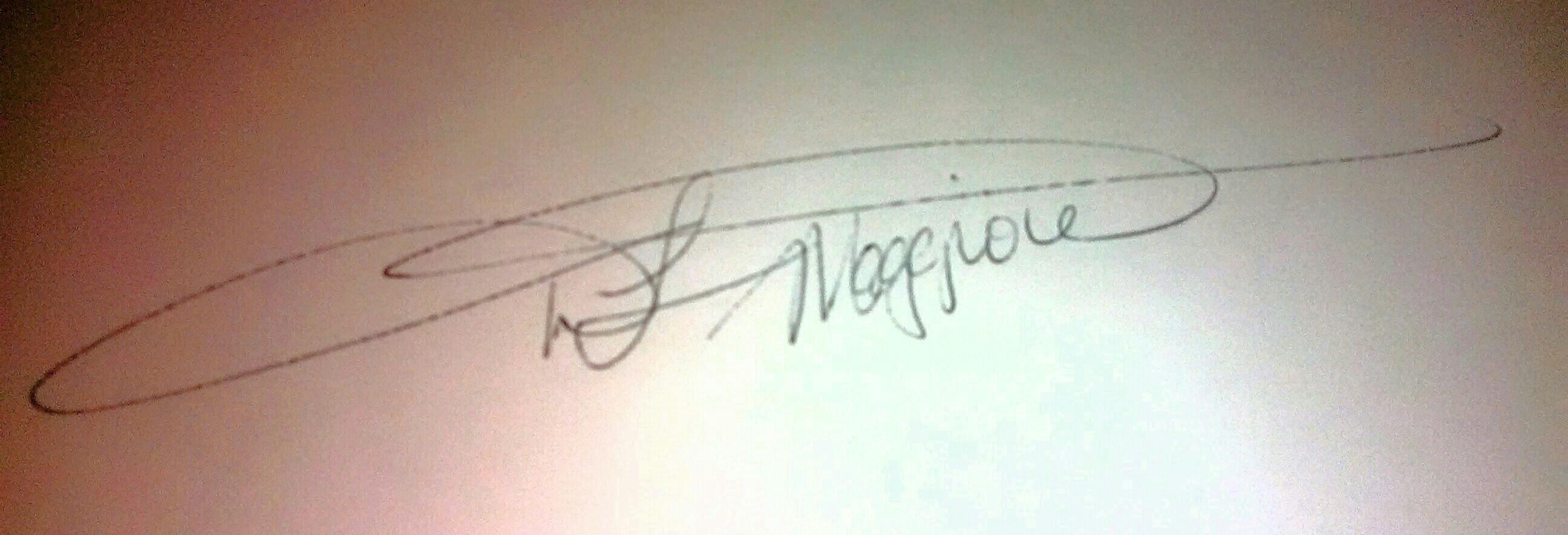 D.l. maggiore's Signature
