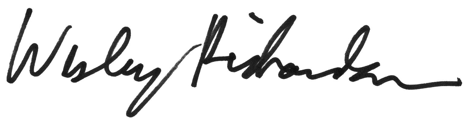 wesley j richardson's Signature