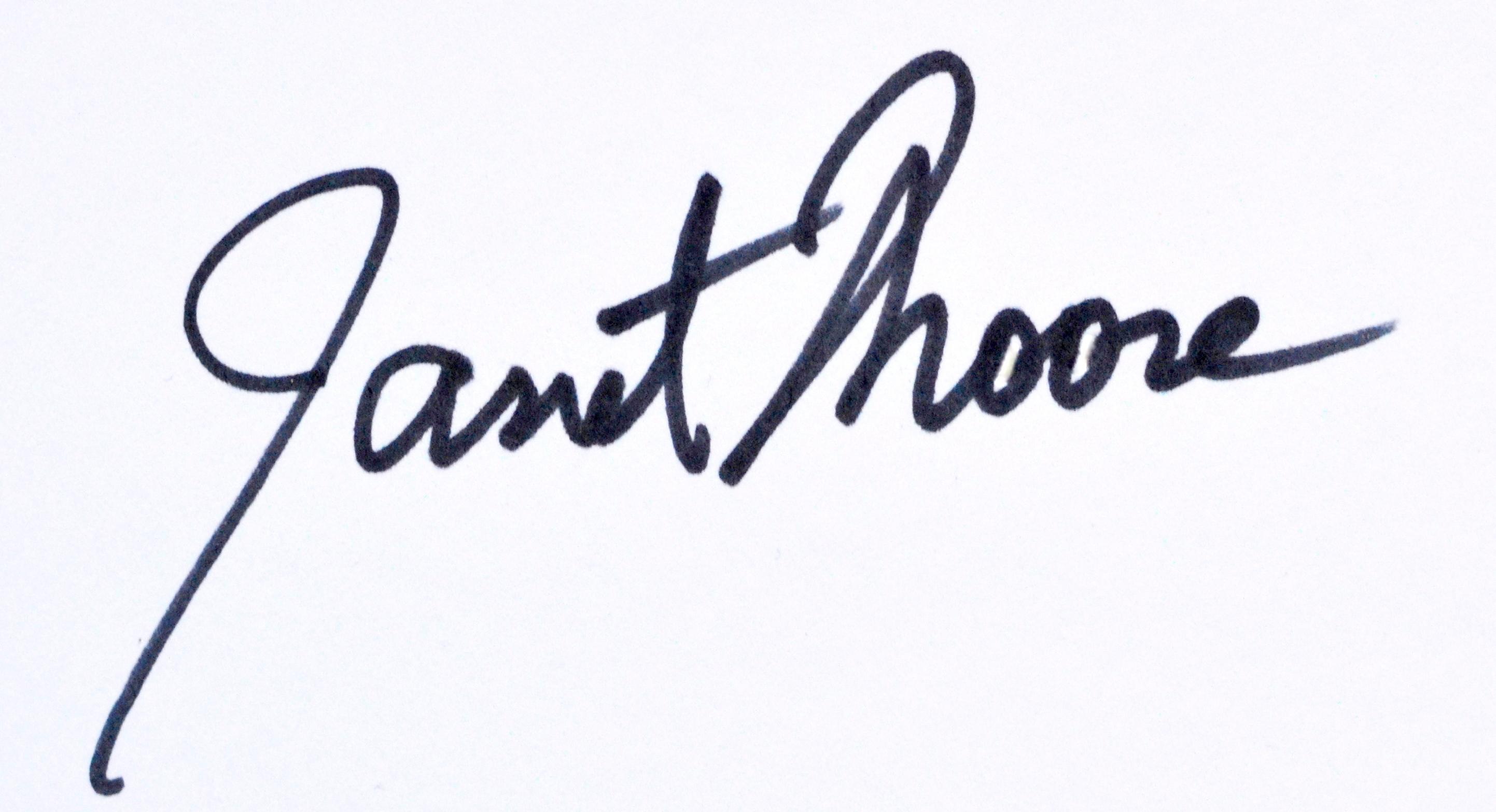 Janet Moore's Signature