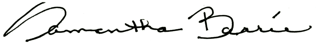 samanthabarrie's Signature