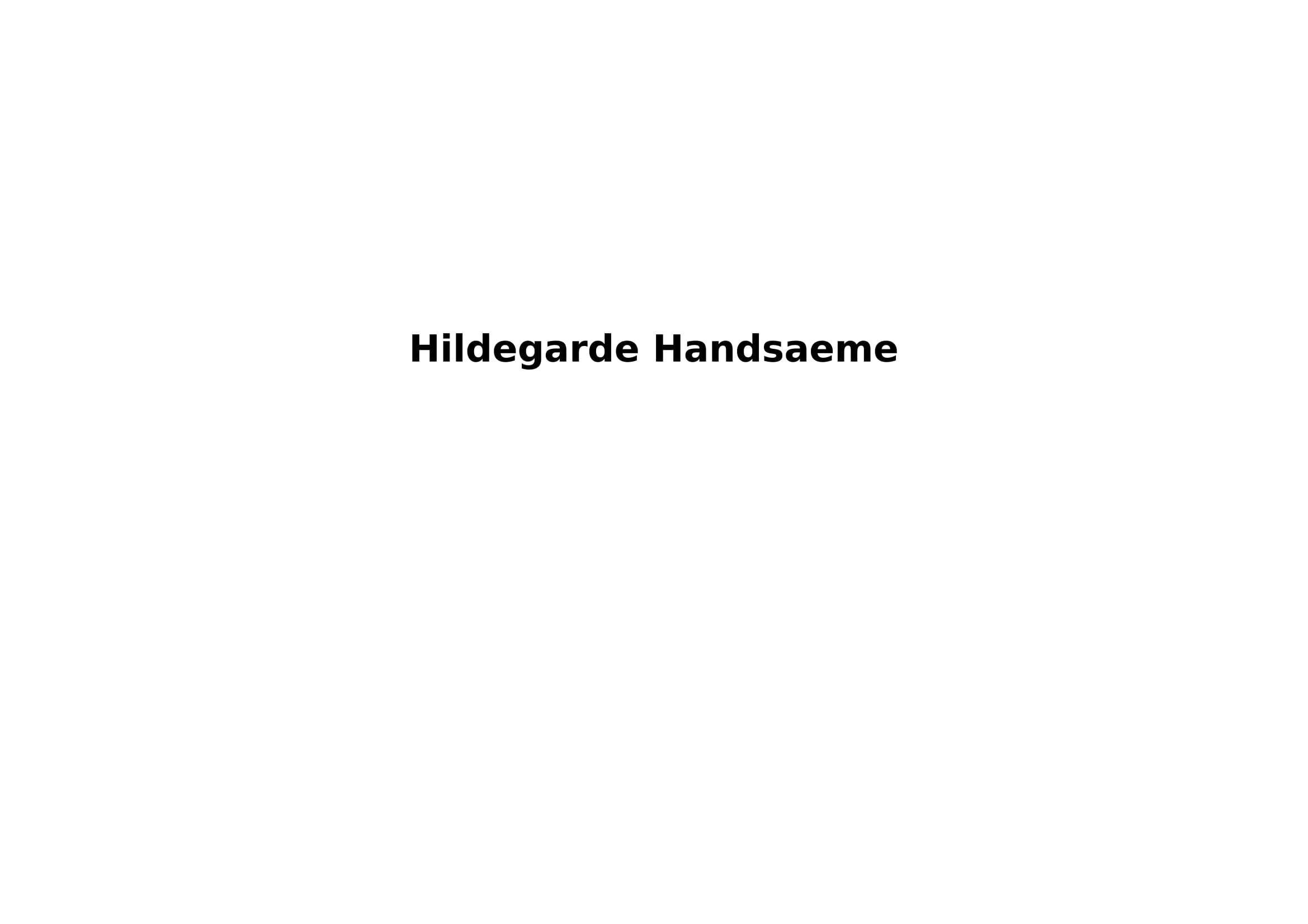 hildegarde Handsaeme's Signature