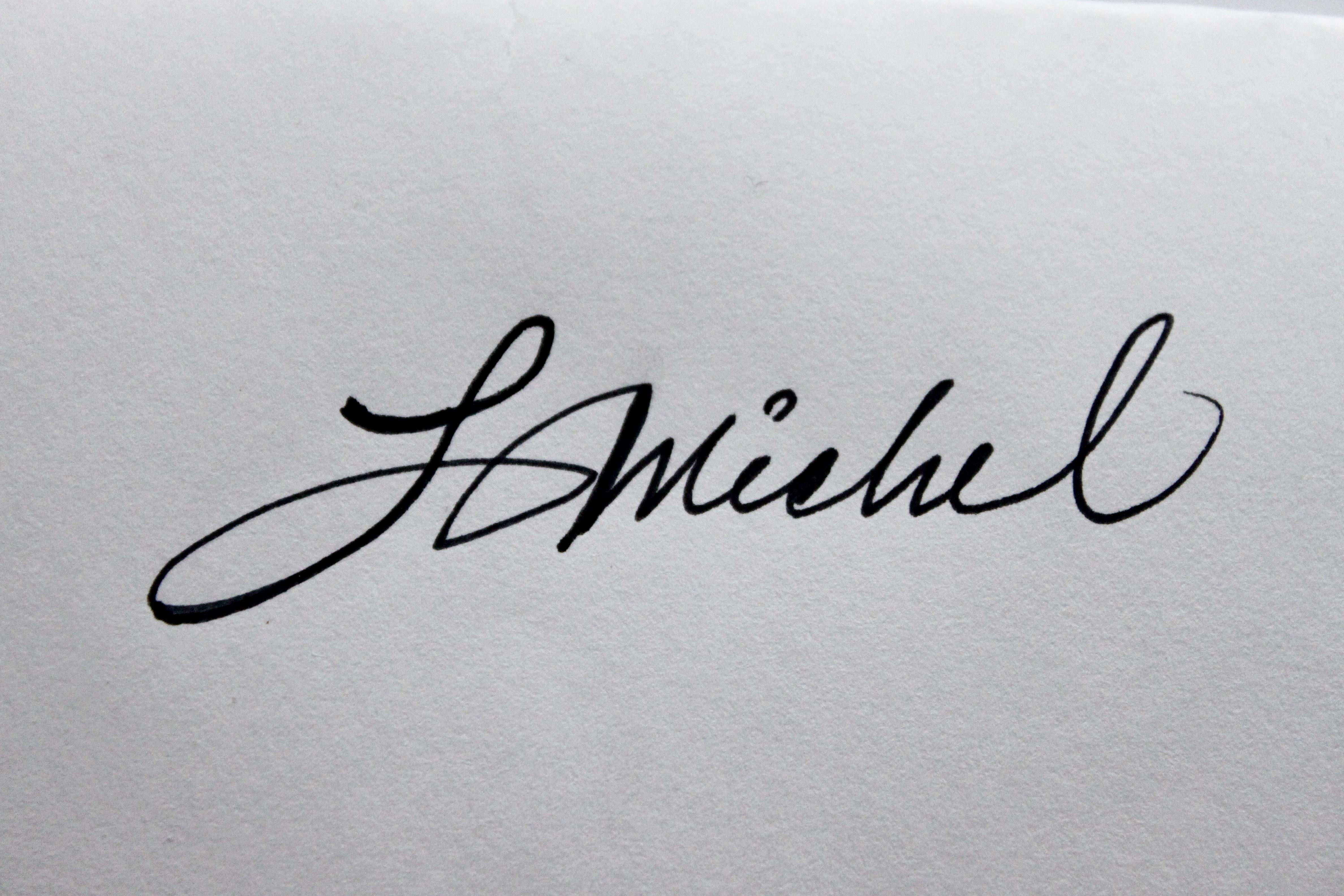 lucie michel's Signature
