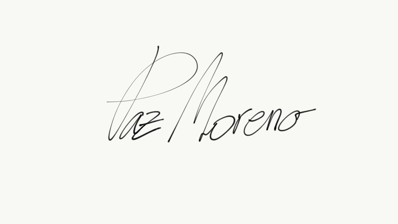 paz moreno's Signature