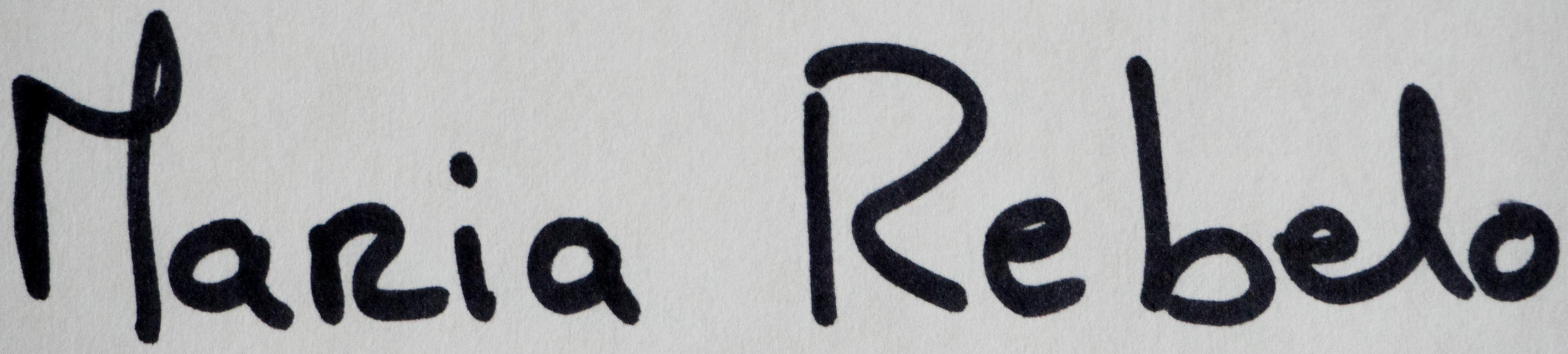 MARIA REBELO's Signature