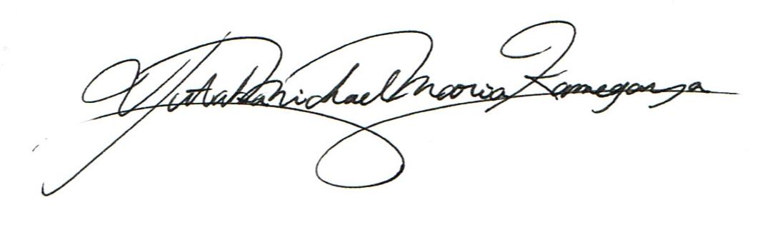 YUTAKA KAMEGAYA's Signature