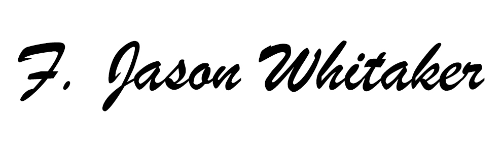 F. jason whitaker's Signature