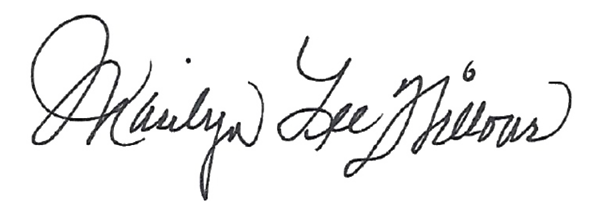 Marilyn Lee Willour's Signature