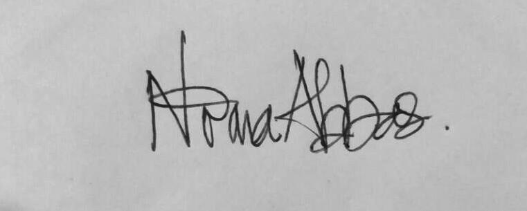 NORMA ABBAS's Signature