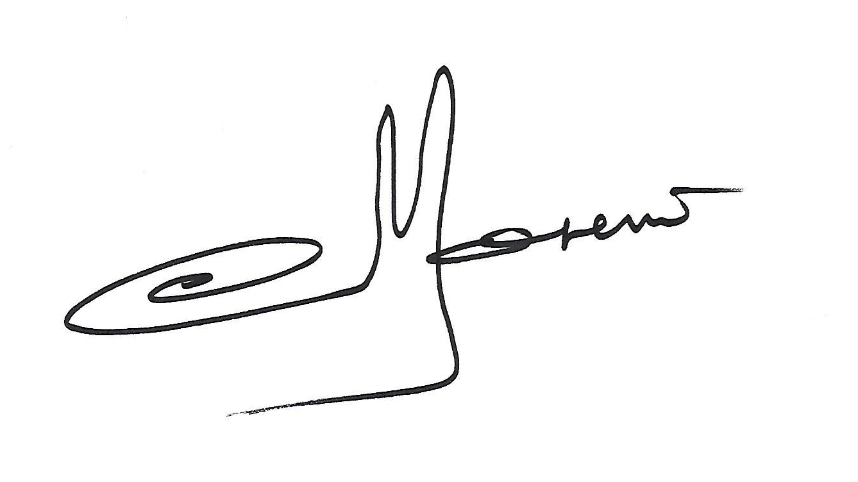 christian Moreno's Signature