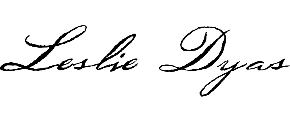 Leslie Dyas's Signature