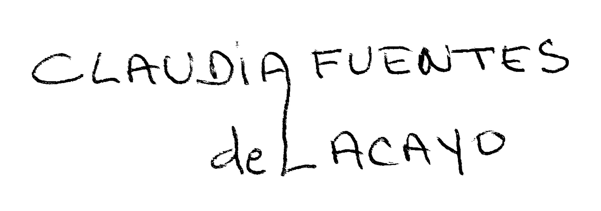 claudia fuentes de lacayo's Signature
