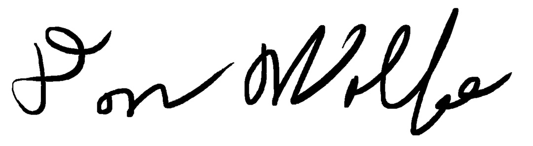 don wolfe's Signature