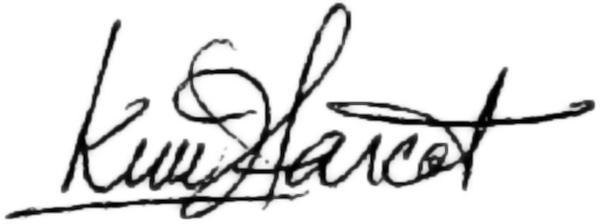kim Farcot's Signature