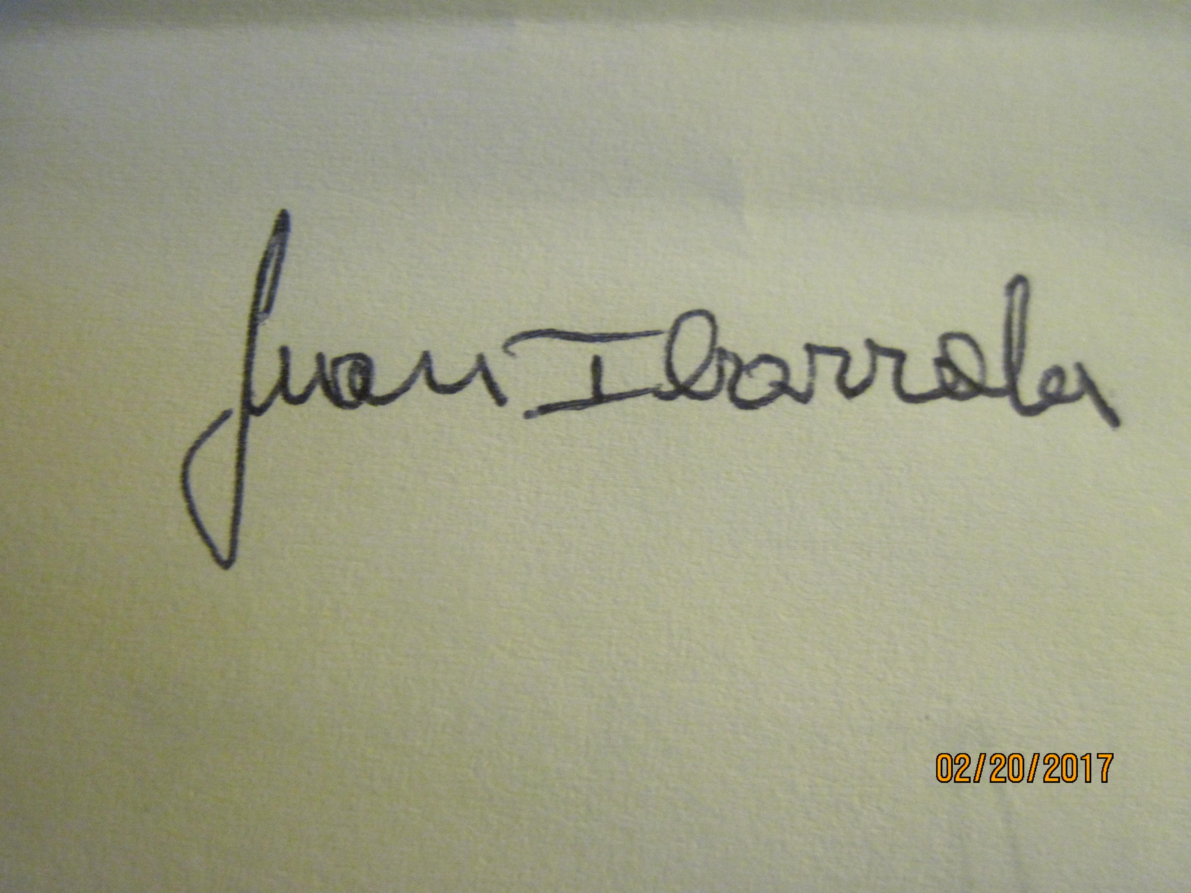 Artesania Ibarrola Quiroga's Signature