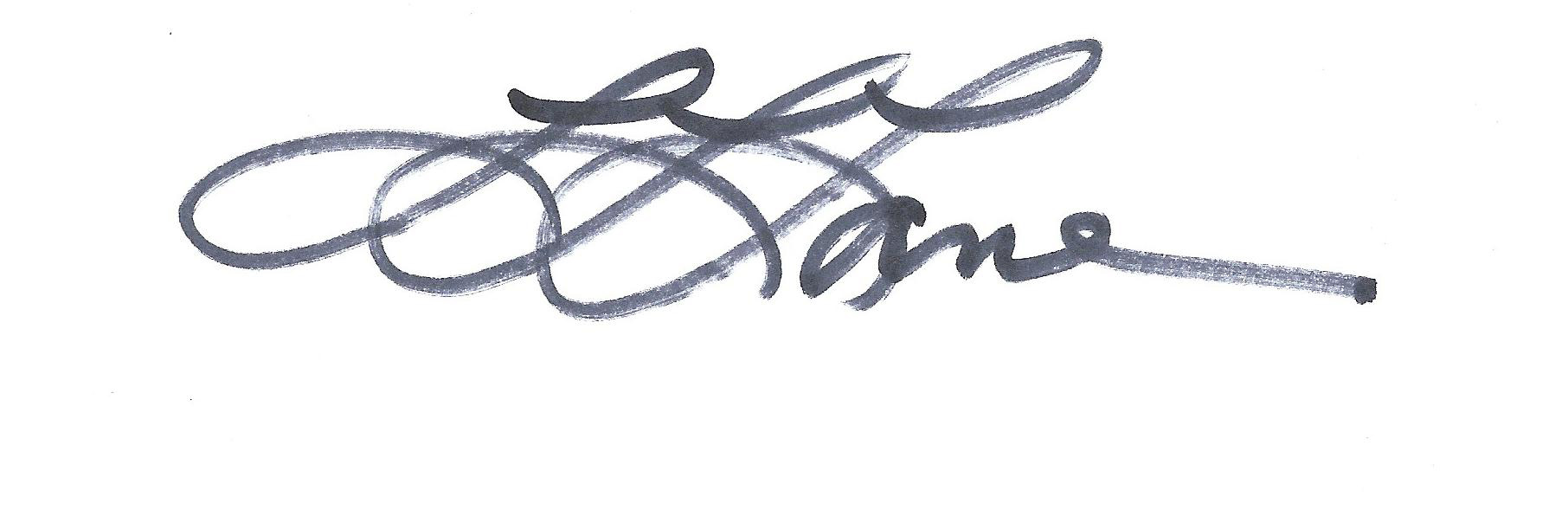 Linda Lane's Signature