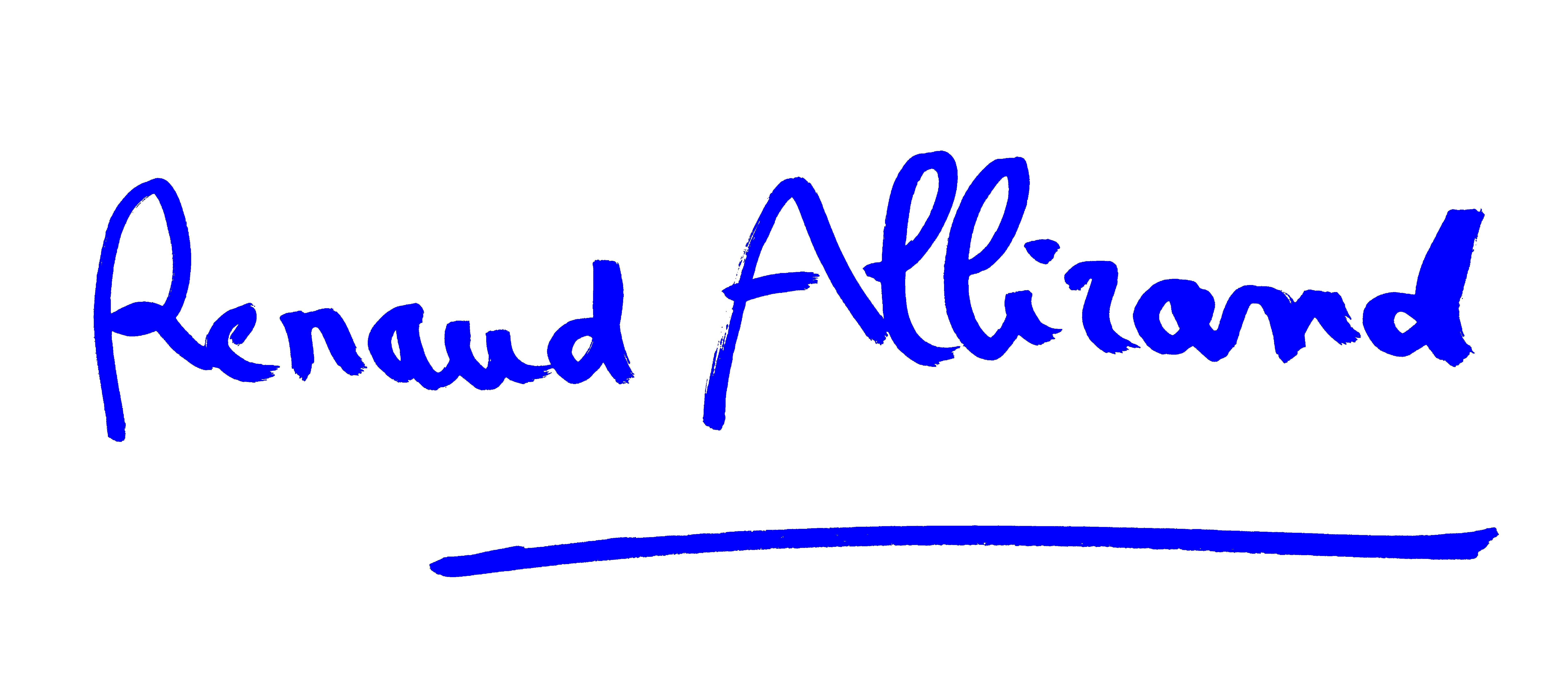 renaud allirand's Signature