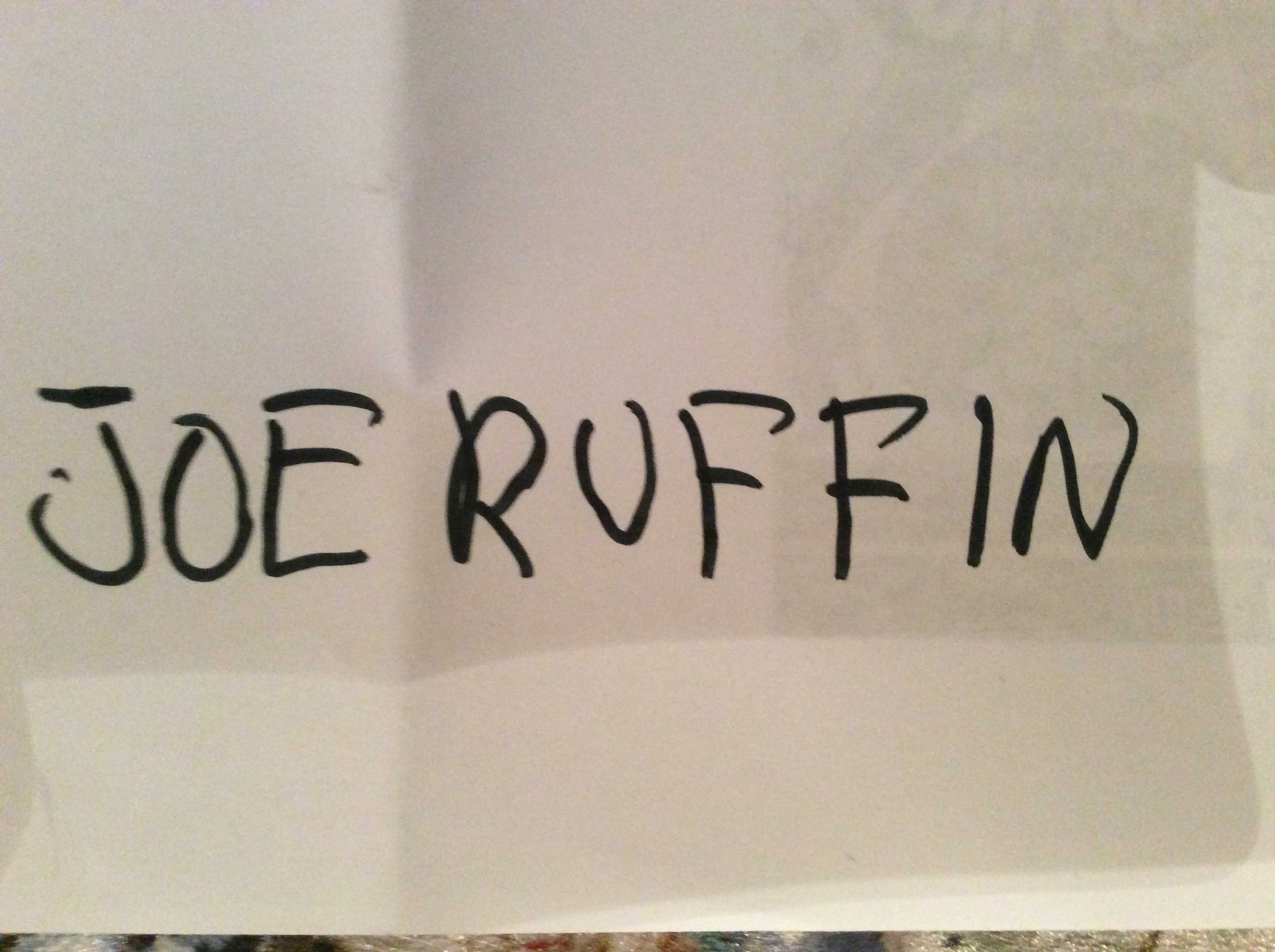 Joe Ruffin's Signature
