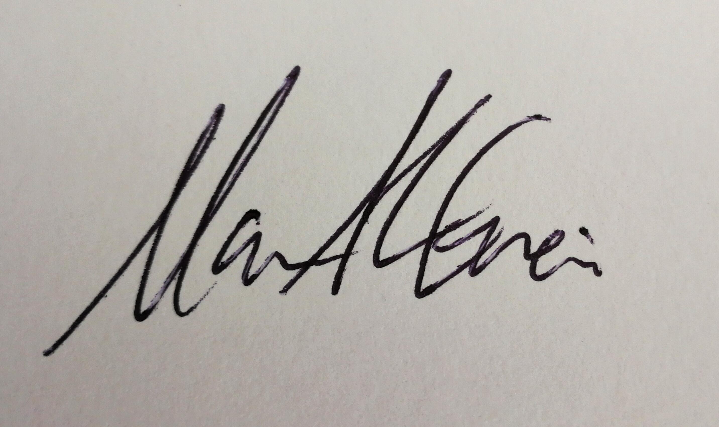 Mariam S. al-enezi's Signature