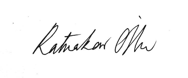 ratnakar ojha's Signature