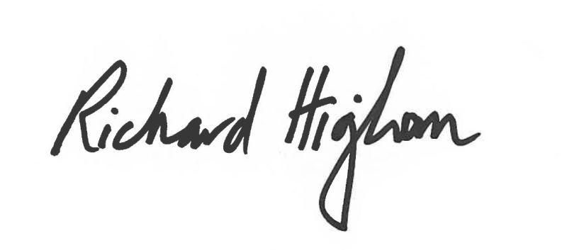 richard Higham's Signature