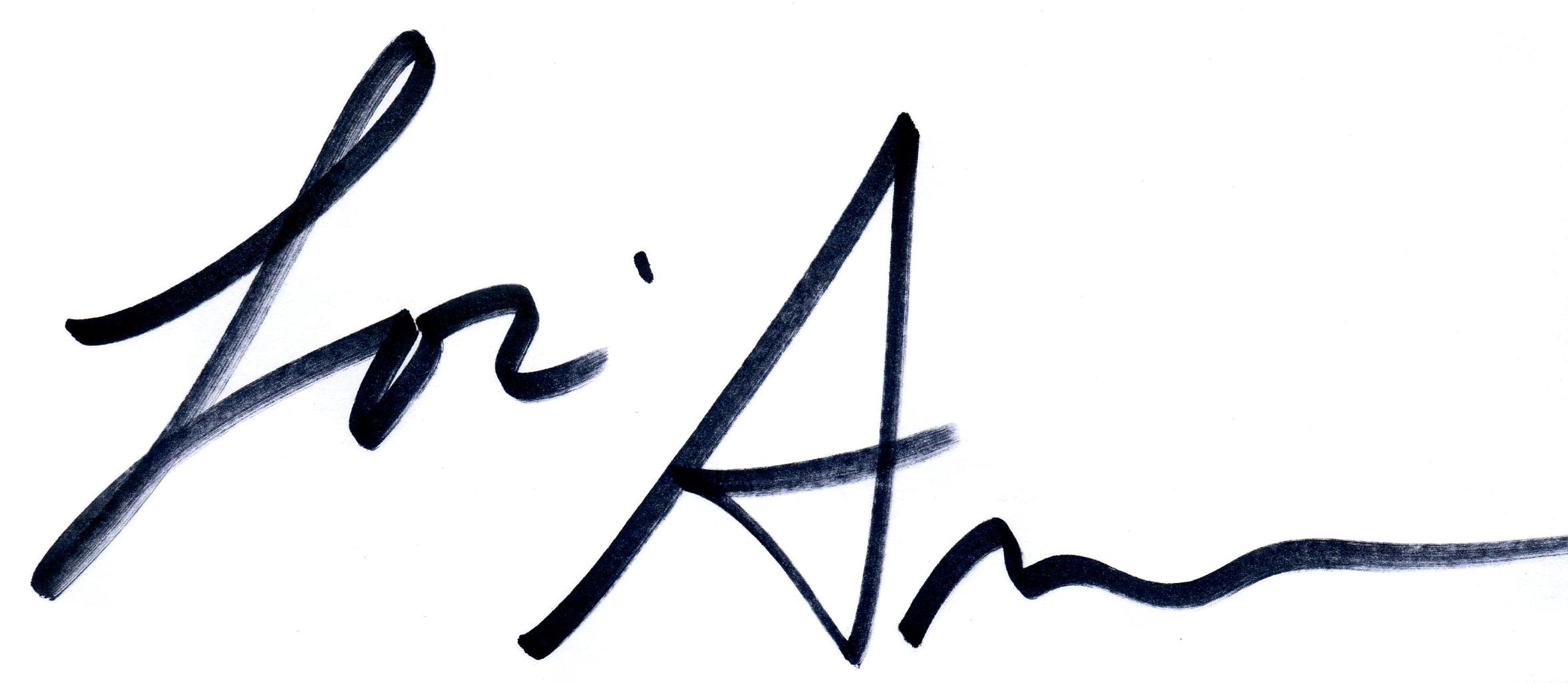 loriann's Signature