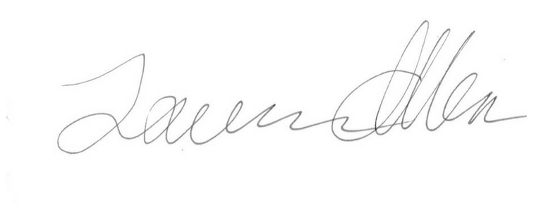 Lauren Allen's Signature