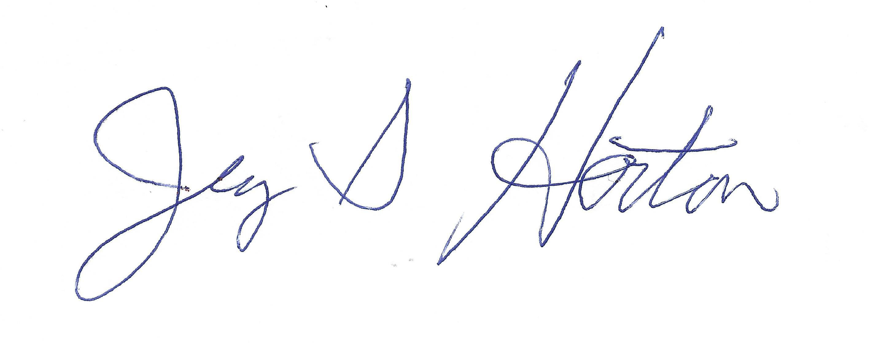 jerry s horton's Signature