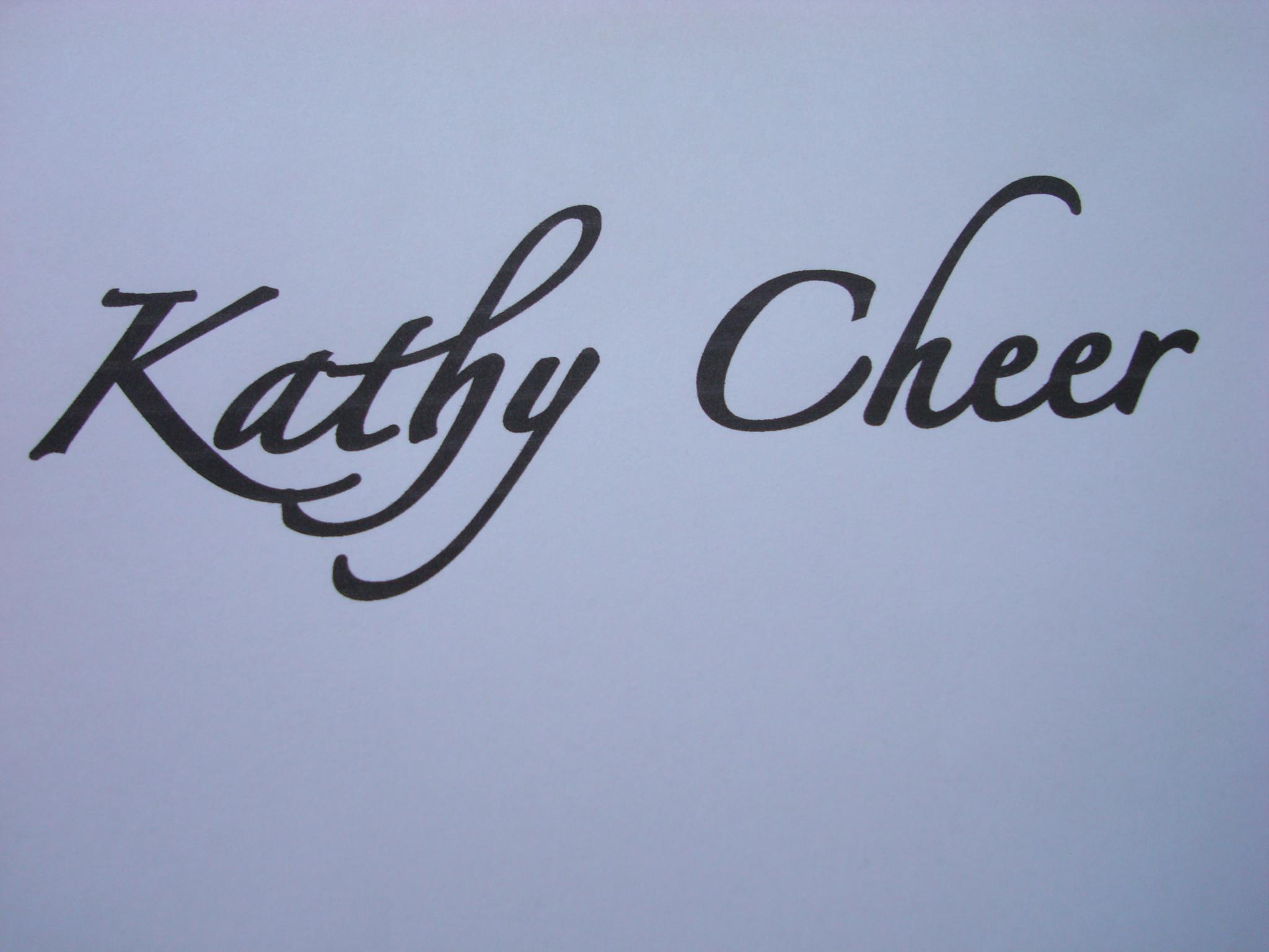 kathy cheer's Signature