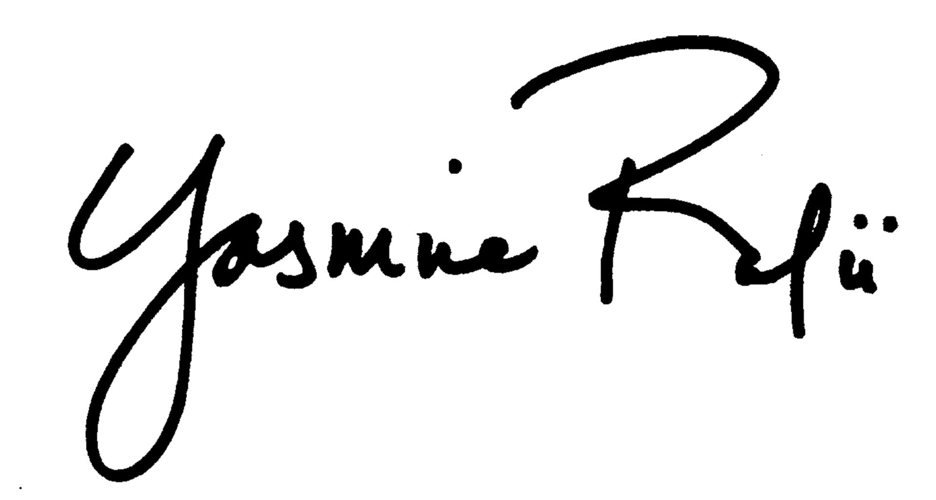 yasmine rafii's Signature