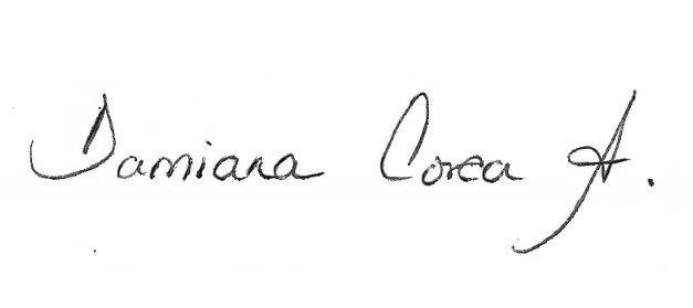 damiana corea arellano's Signature