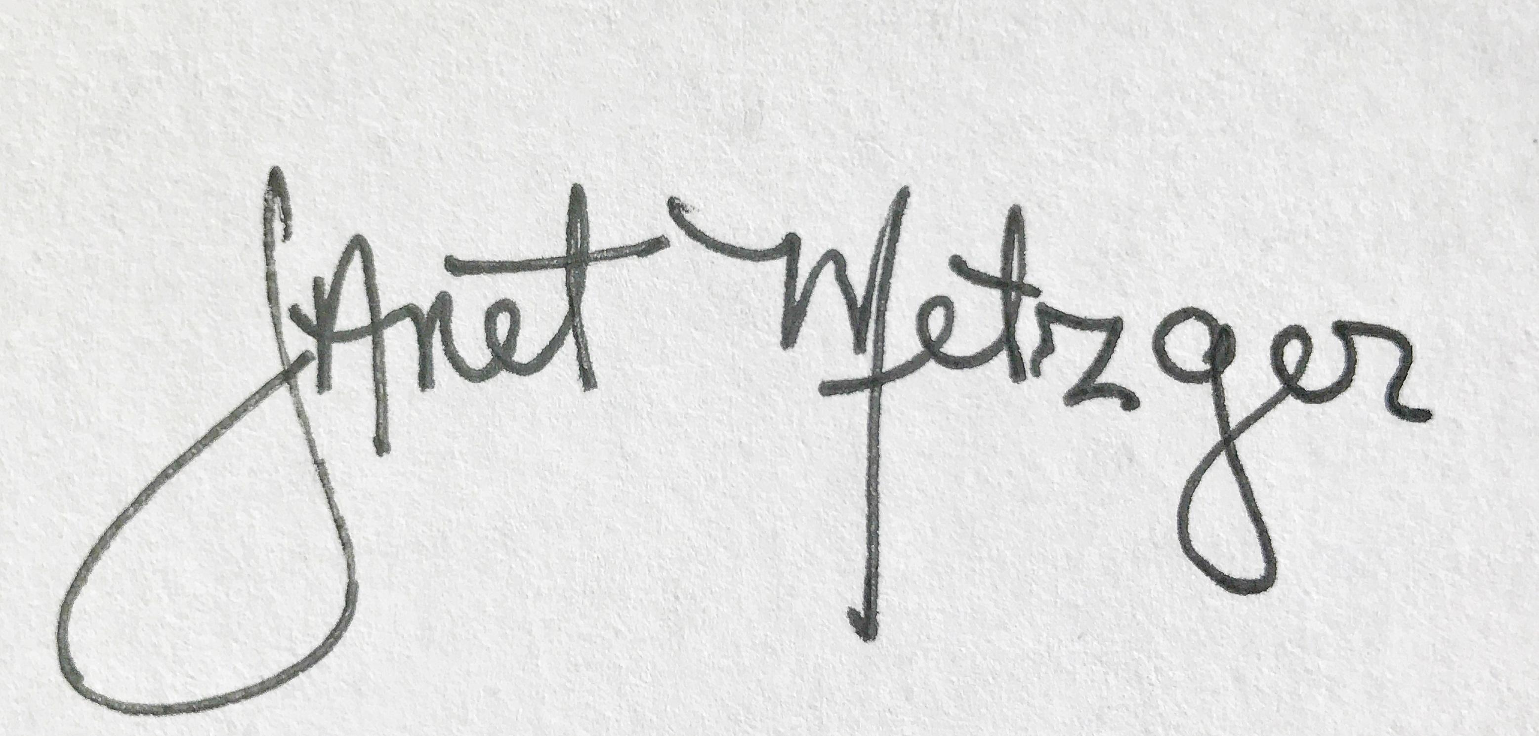 Janet Metzger's Signature