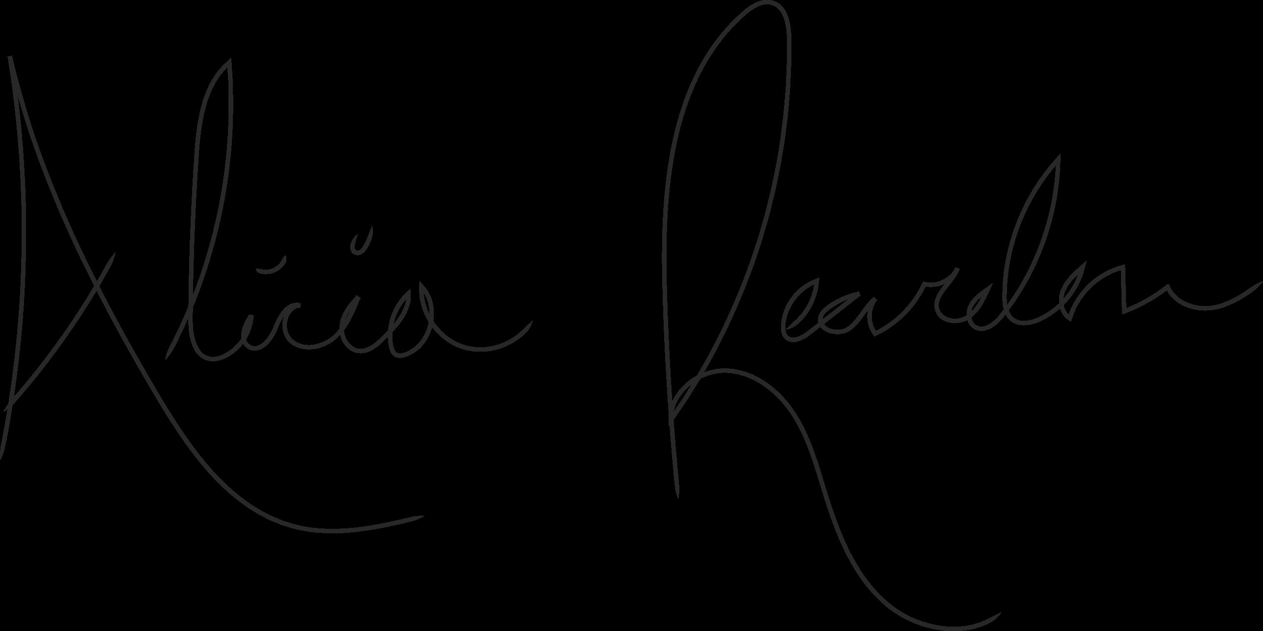 Alicia Reardon's Signature
