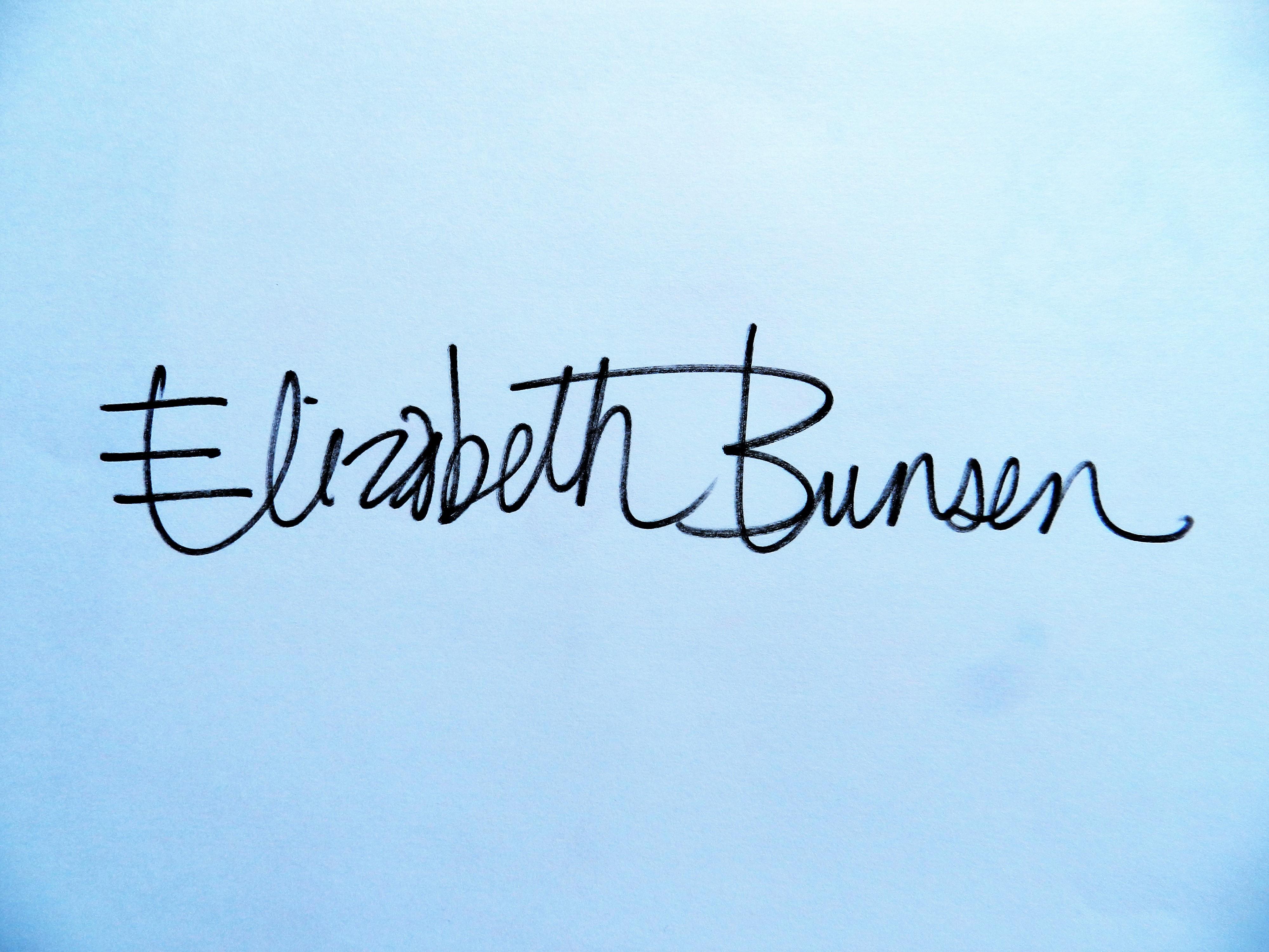 Elizabeth Bunsen's Signature