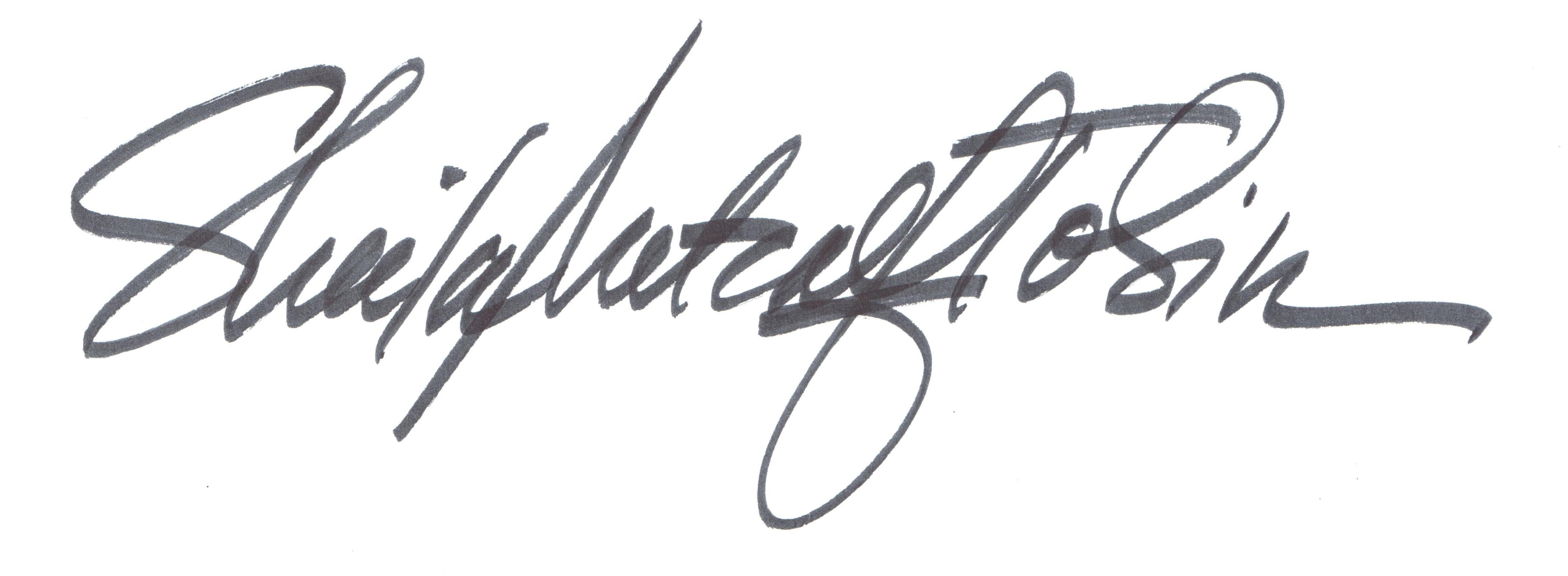 sheila metcalf tobin's Signature