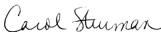 Carol Sturman's Signature