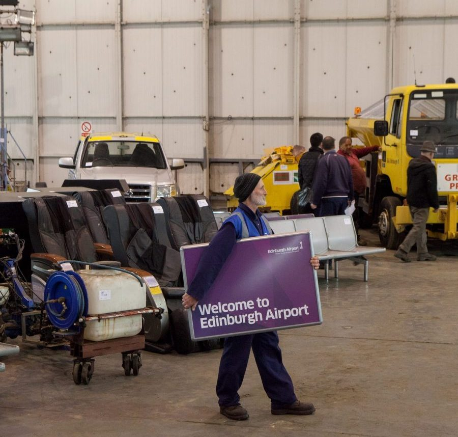 Items from Edinburgh Airport are to be sold at auction by Wilsons Auctioneers on 6 May. Everything from a fire engine to security trays. May 5 2015  See Centre Press story CPSALE