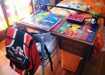 Desk, Child, Children, Schook