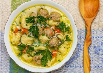 Goat Meatballs with Dumplings