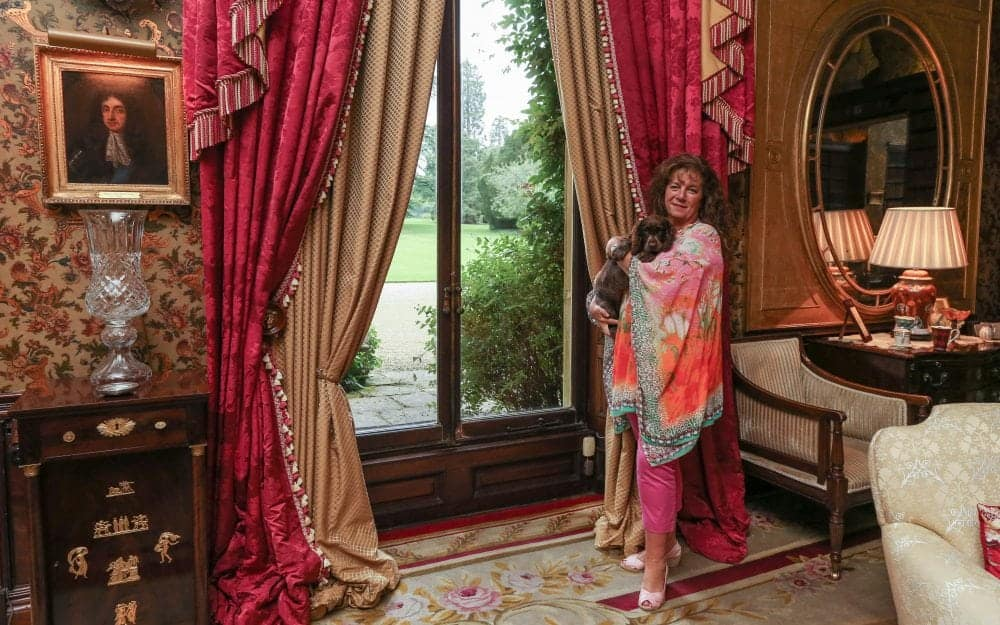 """Lady Bathurst at her home in the Cotswolds. See SWNS story SWGUN; One of Gloucestershire's most prominent civic figures has said 'no offence was meant' as she faces calls to step down over a tweet labelling the NHS a 'disgrace'. Lady Sara Bathurst, who is High Sheriff of Gloucestershire this year, lambasted the health service for informing her a £40 fee would apply for a medical reference she needs in order to obtain a firearms licence. She posted a picture of a letter received from her doctor's surgery on the social network, and wrote: """"My doctors surgery have just demanded £40 - blackmailing me into paying them to give police a medical reference for gun licence. #disgrace"""""""