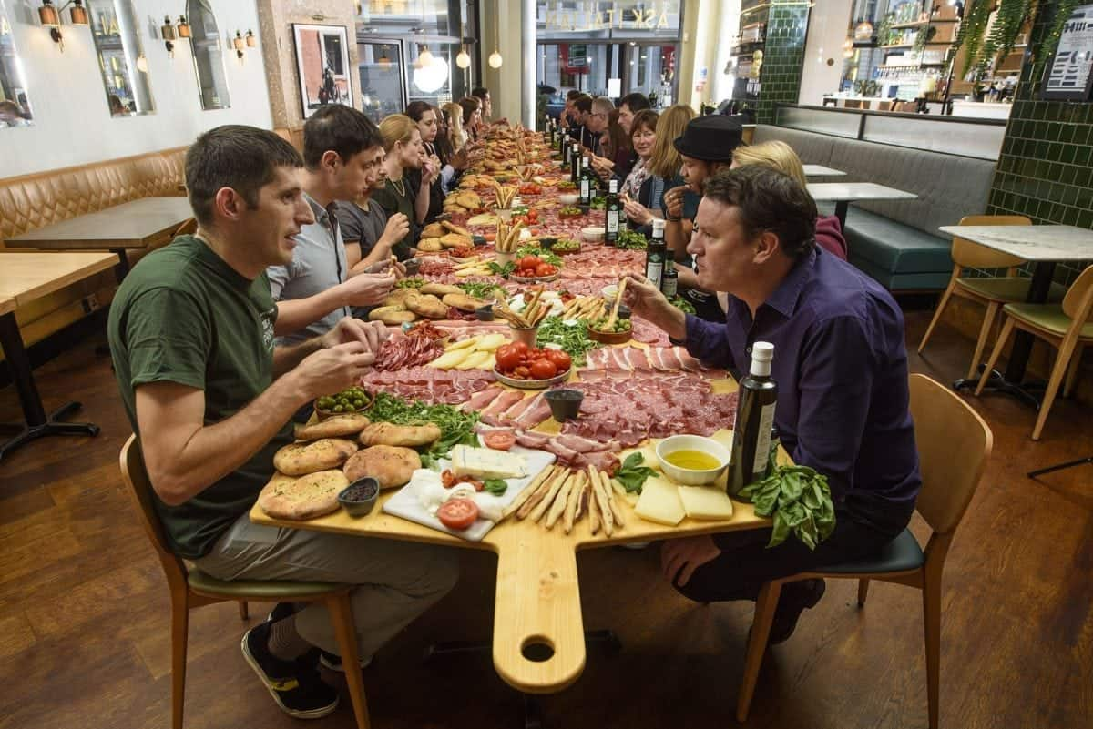 ASK Italian attempted the world record for the biggest antipasti 'Gigantipasti', to celebrate their autumn menu launch askitalian.co.uk.