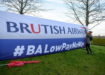"British Airways cabin crew during their 48-hour strike at Heathrow Airport, London, 10 January 2017.  Cabin crew have walked out in a row over pay, although the airline said its customers will be able to fly to their destinations. A small number of Heathrow flights will be ""merged"", but BA said all flights to and from Gatwick and London City airports will operate as normal. Thousands of BA cabin crew voted overwhelmingly in favour of strike action last month, with Unite claiming the so-called 'Mixed Fleet' earn less than other staff. The strike planned for Christmas Day and Boxing Day was subsequently suspended, before a new 48-hour strike was announced after cabin crew rejected a new offer aimed at resolving the dispute. Unite said over 800 cabin crew from British Airways' so-called ""mixed fleet"" had joined the union since the start of the dispute, taking its membership to over 2,900."