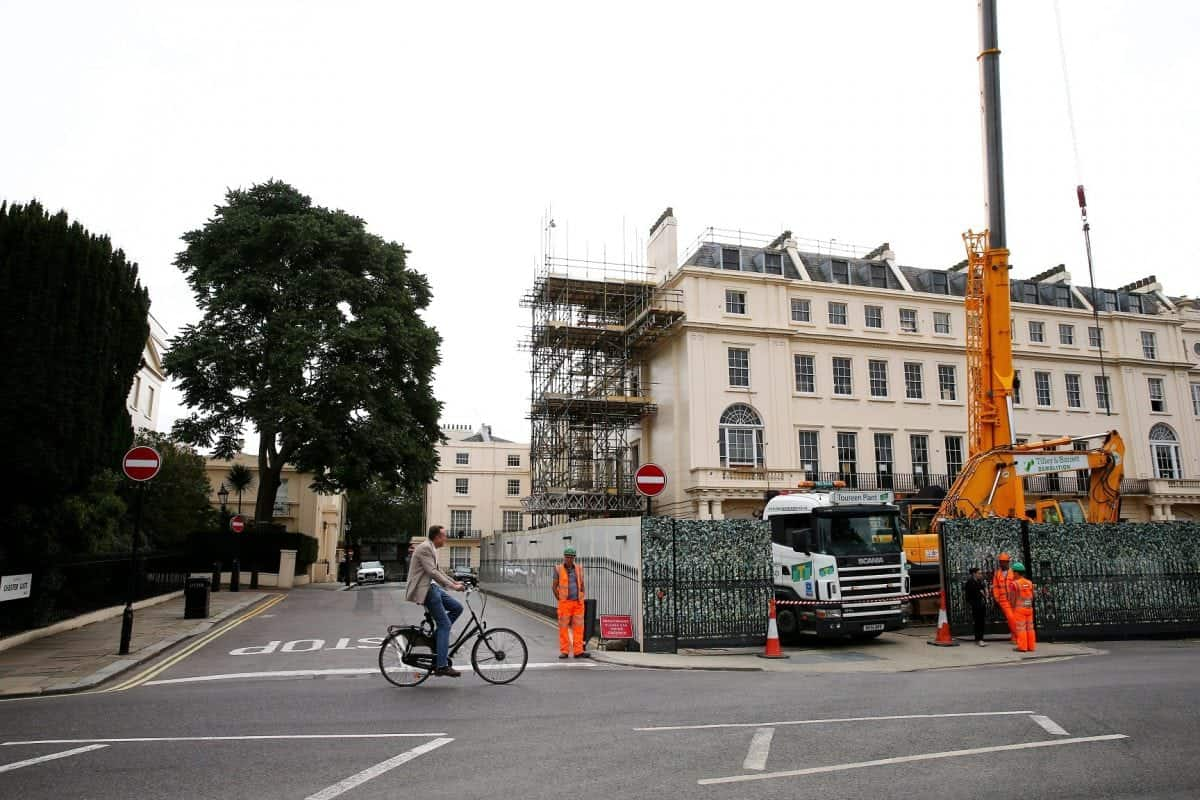 """Christian Candy's home in London which is adjacent to Chester Gate where he wants to extend his garden into a section of the road. See SWNS story SWCANDY; Billionaire tycoon Christian Candy's plans to transform part of a road outside his London mansion into a garden have been given the go-ahead following a year-long battle. Camden Council previously rejected the property developer's plans to return part of the one-way street on Chester Gate into an """"historic garden"""". Mr Candy's development team said in September it was """"extremely disappointed"""" with the decision and said there would be an appeal. Jonathan Hockley, the planning inspectorate, last week reversed the decision, saying Mr Candy's plans would """"undoubtedly enhance"""" both the character and appearance of the conservation area."""
