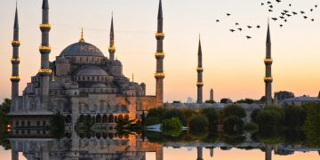 Blue mosque and hagia sophia ..