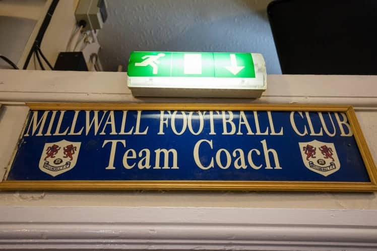 The Millwall sign that hangs in the Three Lions pub in Bedminster, Bristol, which the landlord is going to give to hero London Terror attack victim Roy Larner. June 8 2017. See SWNS story SWFLAG; Football fans who stole a Millwall plaque from a team bus 20 years ago and have held it to ransom ever since are finally giving it back - to London terror hero Roy Larner. The large sign was nicked from a Millwall players' coach in the 1990s when cheeky Bristol City fans and grabbed it. off the front. They then installed it as a trophy above the bar of the City fans' boozer The Three Lions.