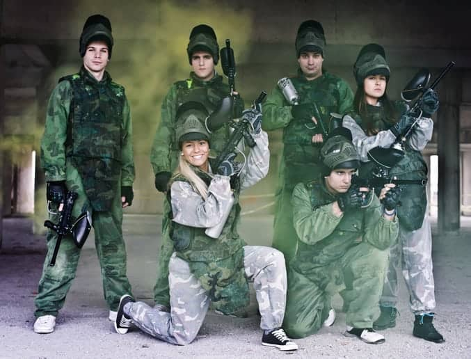 Paintball team ready for battle