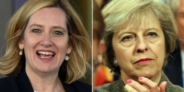 Home Secretary Amber Rudd Prime Minister Theresa May