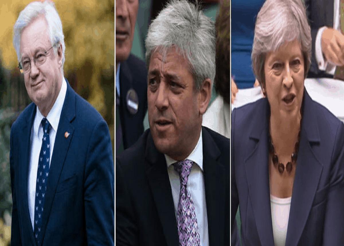 David Davis John Bercow Theresa May